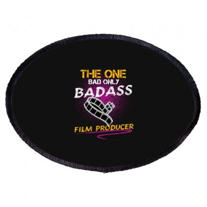 The One Day Only Badass Film Producer Oval Patch Designed By Wizarts