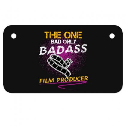 The One Day Only Badass Film Producer Motorcycle License Plate Designed By Wizarts