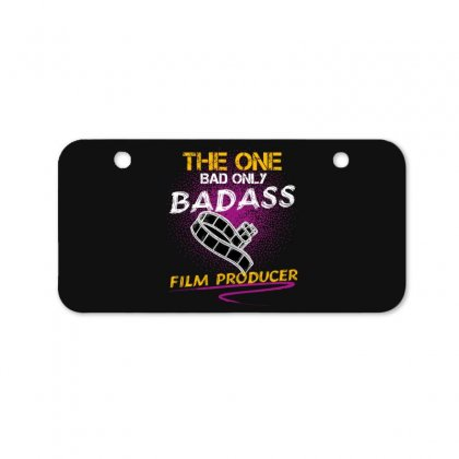 The One Day Only Badass Film Producer Bicycle License Plate Designed By Wizarts