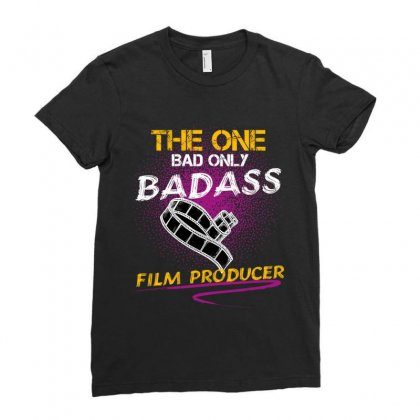 The One Day Only Badass Film Producer Ladies Fitted T-shirt Designed By Wizarts