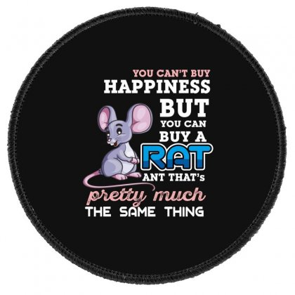 You Can't Buy Happiness But You Can Buy A Rat Round Patch Designed By Wizarts