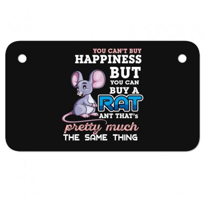 You Can't Buy Happiness But You Can Buy A Rat Motorcycle License Plate Designed By Wizarts