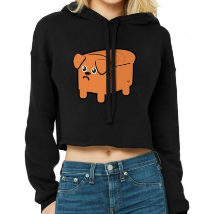 Dog Bread Cropped Hoodie Designed By Wizarts
