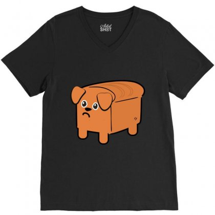 Dog Bread V-neck Tee Designed By Wizarts