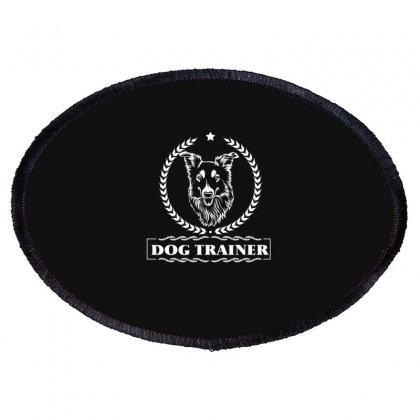 Dog Trainer Oval Patch Designed By Wizarts