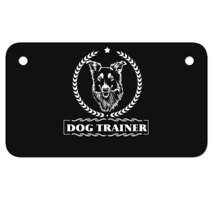 Dog Trainer Motorcycle License Plate Designed By Wizarts