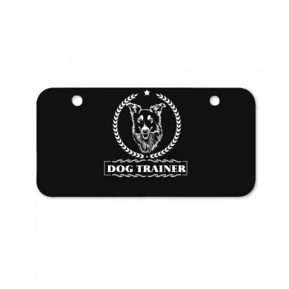Dog Trainer Bicycle License Plate Designed By Wizarts
