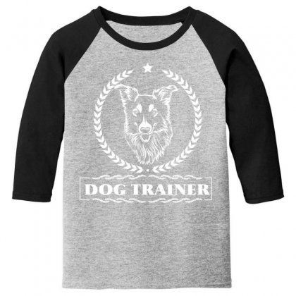 Dog Trainer Youth 3/4 Sleeve Designed By Wizarts