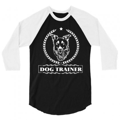 Dog Trainer 3/4 Sleeve Shirt Designed By Wizarts