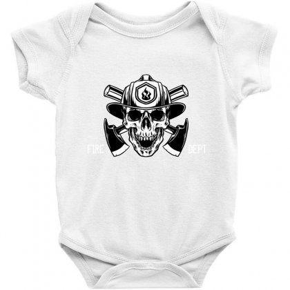 Fire Dept. Baby Bodysuit Designed By Wizarts