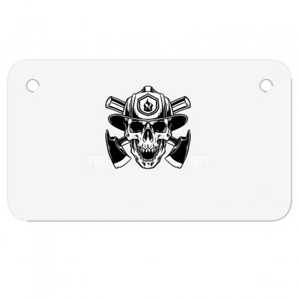 Fire Dept. Motorcycle License Plate Designed By Wizarts