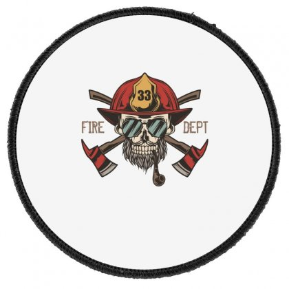 Fire Dept. 1 Round Patch Designed By Wizarts