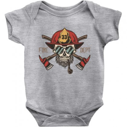 Fire Dept. 1 Baby Bodysuit Designed By Wizarts