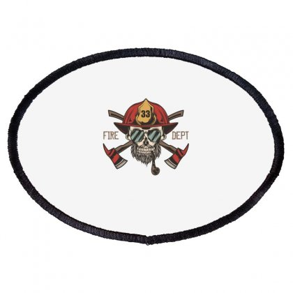 Fire Dept. 1 Oval Patch Designed By Wizarts