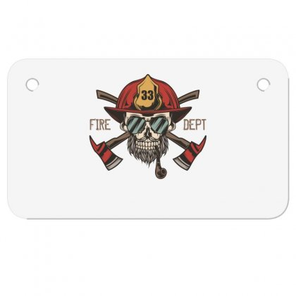 Fire Dept. 1 Motorcycle License Plate Designed By Wizarts
