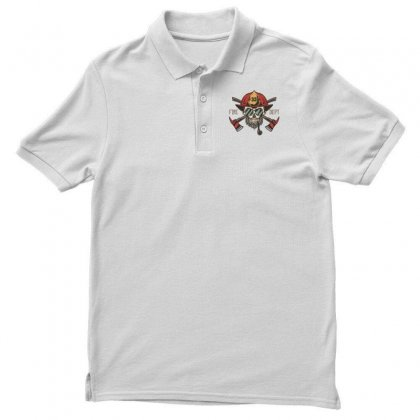 Fire Dept. 1 Men's Polo Shirt Designed By Wizarts