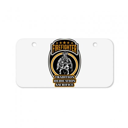 Firefighter Tradition Dedication Sacrifice Bicycle License Plate Designed By Wizarts
