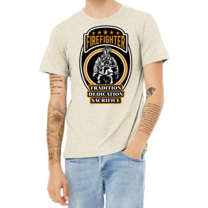 Firefighter Tradition Dedication Sacrifice Heather T-shirt Designed By Wizarts