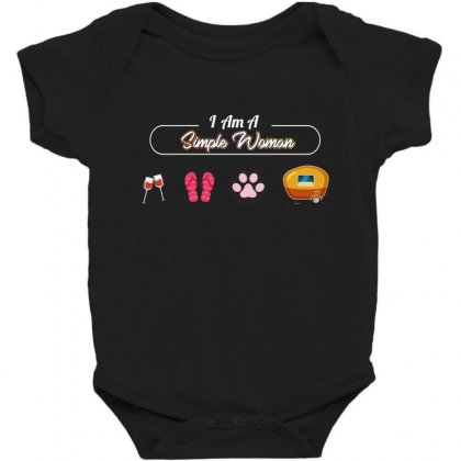 I Am A Simple Woman Baby Bodysuit Designed By Wizarts
