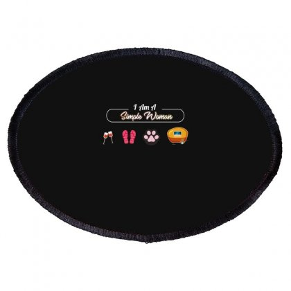 I Am A Simple Woman Oval Patch Designed By Wizarts
