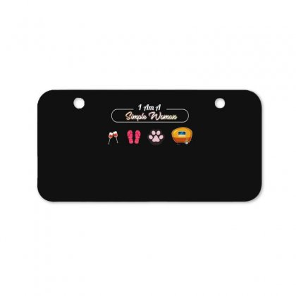 I Am A Simple Woman Bicycle License Plate Designed By Wizarts