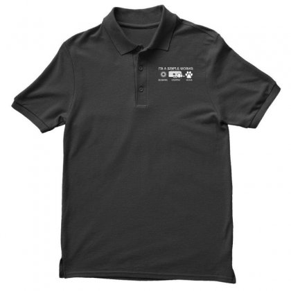 I'm A Simple Woman Sunshine Camping Dogs Men's Polo Shirt Designed By Wizarts
