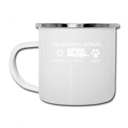 I'm A Simple Woman Sunshine Camping Dogs Camper Cup Designed By Wizarts