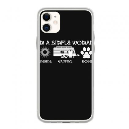 I'm A Simple Woman Sunshine Camping Dogs Iphone 11 Case Designed By Wizarts