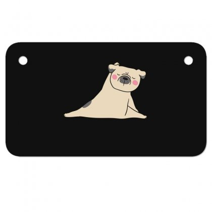 Pug Dog Yoga Motorcycle License Plate Designed By Wizarts