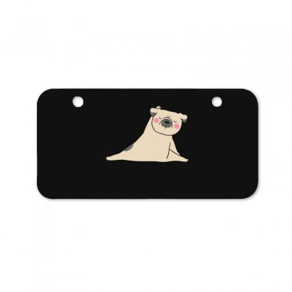 Pug Dog Yoga Bicycle License Plate Designed By Wizarts