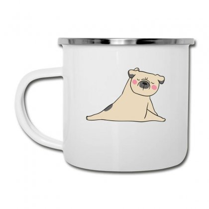 Pug Dog Yoga Camper Cup Designed By Wizarts