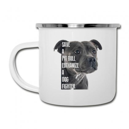 Save A Pitbull Euthanize A Dog Fighter Camper Cup Designed By Wizarts