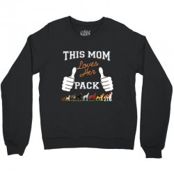 this mom loves her pack Crewneck Sweatshirt | Artistshot