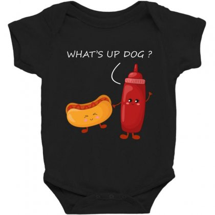 What's Up Dog Baby Bodysuit Designed By Wizarts