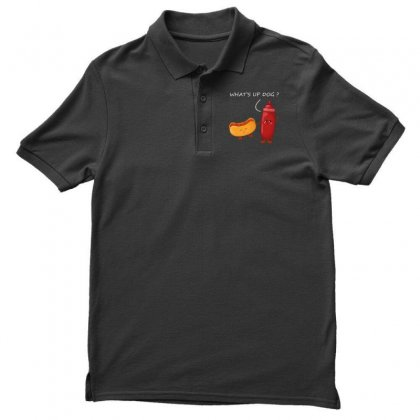 What's Up Dog Men's Polo Shirt Designed By Wizarts