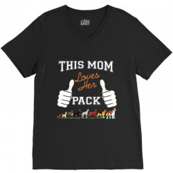 this mom loves her pack V-Neck Tee | Artistshot
