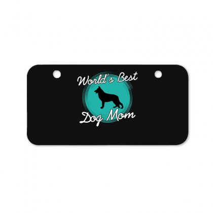 World's Best Dog Mom Bicycle License Plate Designed By Wizarts