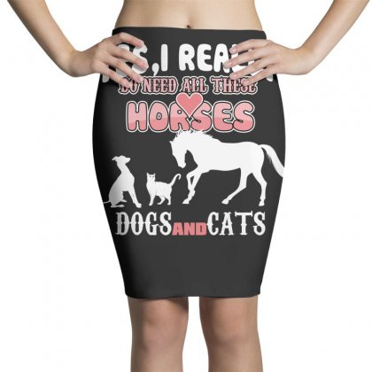 Yes I Really Do Need All These Horses Dogs And Cats Pencil Skirts Designed By Wizarts