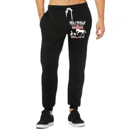 Yes I Really Do Need All These Horses Dogs And Cats Unisex Jogger Designed By Wizarts