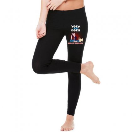 Yoga And Dogs Are My Therapy Legging Designed By Wizarts