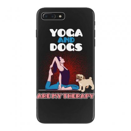 Yoga And Dogs Are My Therapy Iphone 7 Plus Case Designed By Wizarts