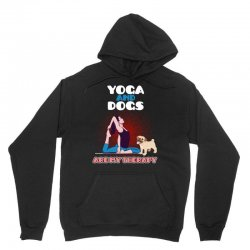 yoga and dogs are my therapy Unisex Hoodie | Artistshot