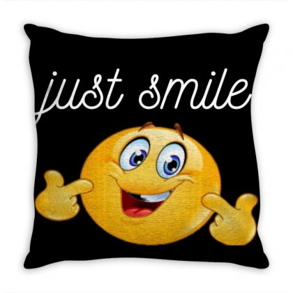 Just Smile Throw Pillow Designed By Ibrahimabdo89