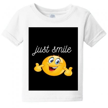Just Smile Baby Tee Designed By Ibrahimabdo89