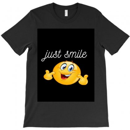 Just Smile T-shirt Designed By Ibrahimabdo89
