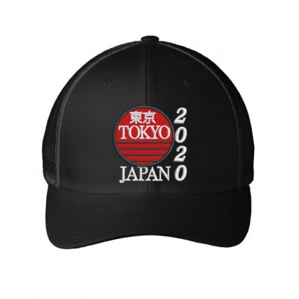Tokyo Japan 2020 Embroidered Mesh Cap Designed By Madhatter