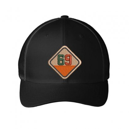 Sixty Nine 69 Embroidered Mesh Cap Designed By Madhatter