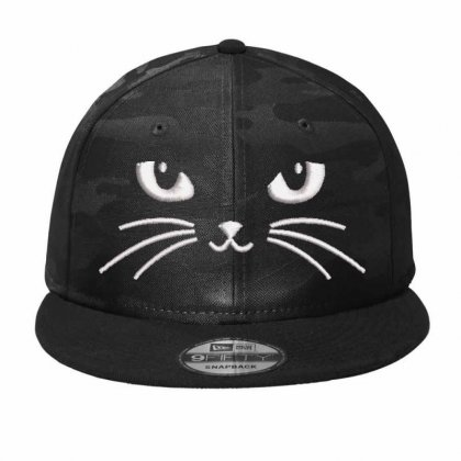 Black Cat Camo Snapback Designed By Madhatter