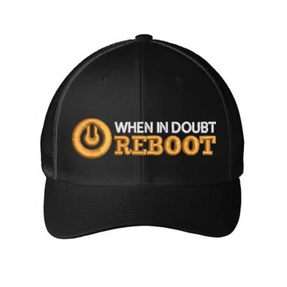 Reboot Embroidered Mesh Cap Designed By Madhatter
