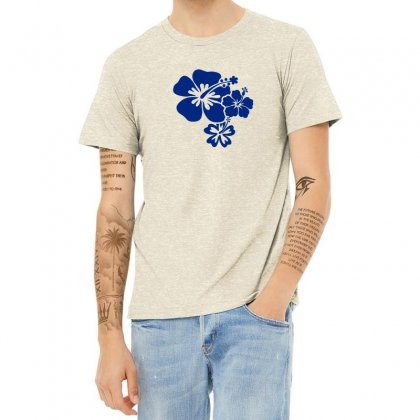 Hibiscus Flowers Heather T-shirt Designed By Teeshop